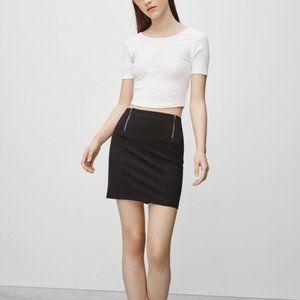 ARITZIA SUNDAY BEST Grey Stretch Zipper Skirt